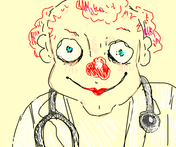Happy holiday clown doctor