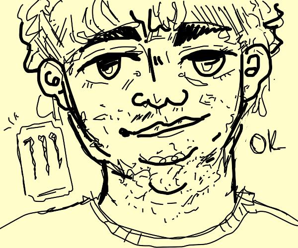 A neck beard Boomer