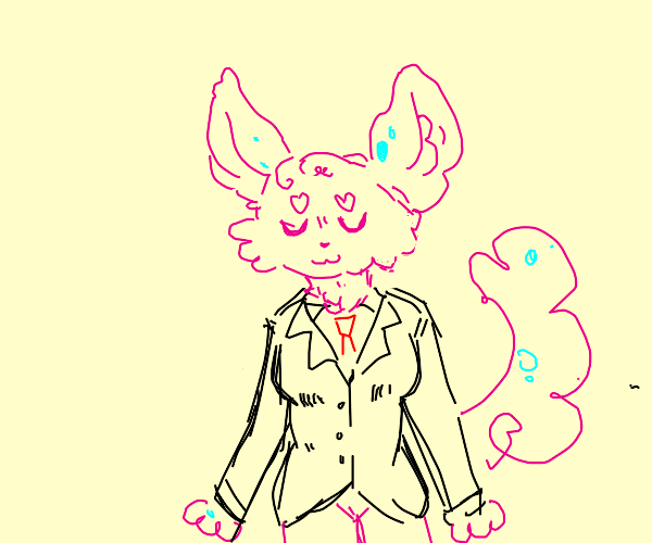 furry in a suit