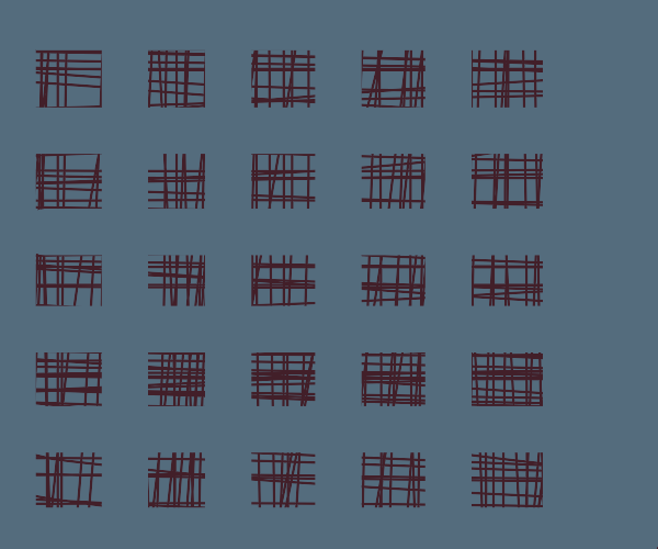 Squares with lines in them