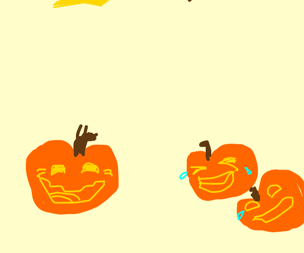 A Jack o' Lantern Laughing with his Buddies