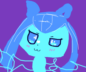 Amazingly drawn face pic of glaceon!