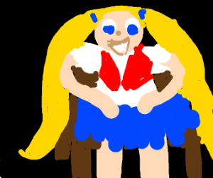 Anime girl in chair
