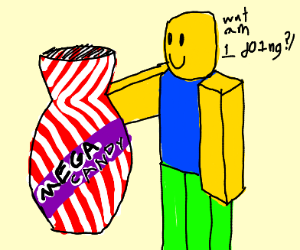 ROBLOX guy with mega candy case