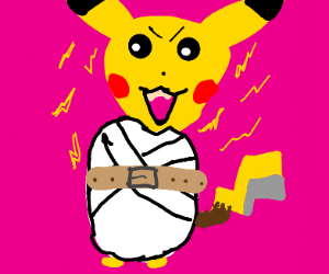 Pikachu in a Straitjacket