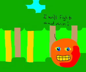 Annoying orange is wining the war for us