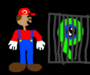 Mario traps Jacksepticeye in a box
