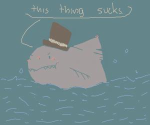 Shark hates cylinder
