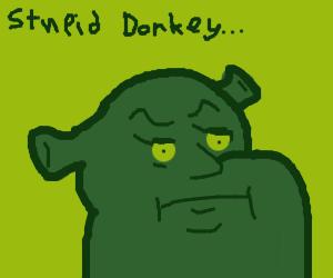 shrek is mad at donkey
