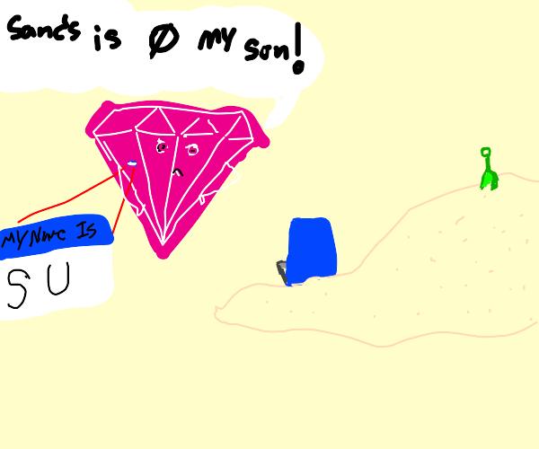 Pink Diamond (SU) yells Sans isn't her son