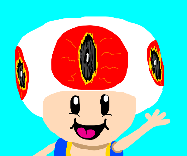 The spots on Toads cap are really demon eyes