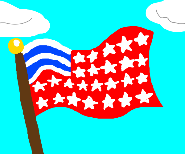 American flag but stars swap with stripes