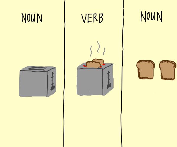 Toaster toasts toast