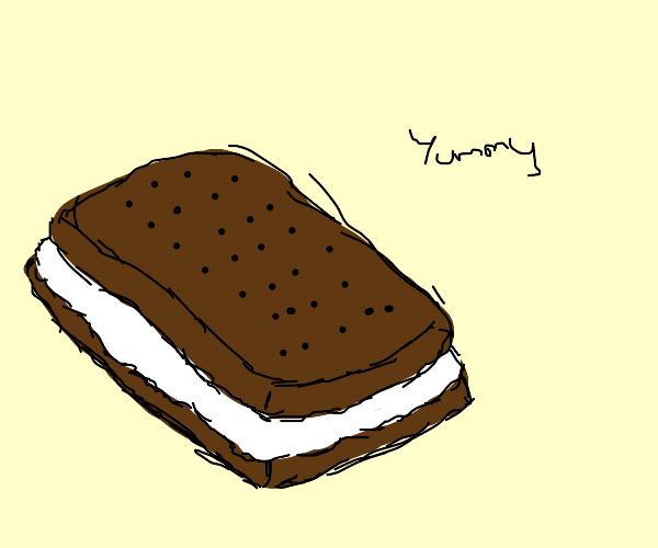 An ice cream sandwich