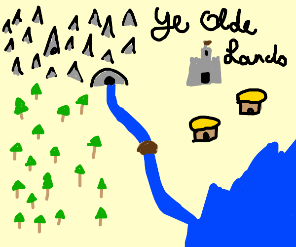 A old map for a kingdom
