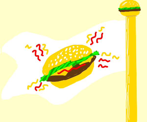 The flag of the cheeseburger republic