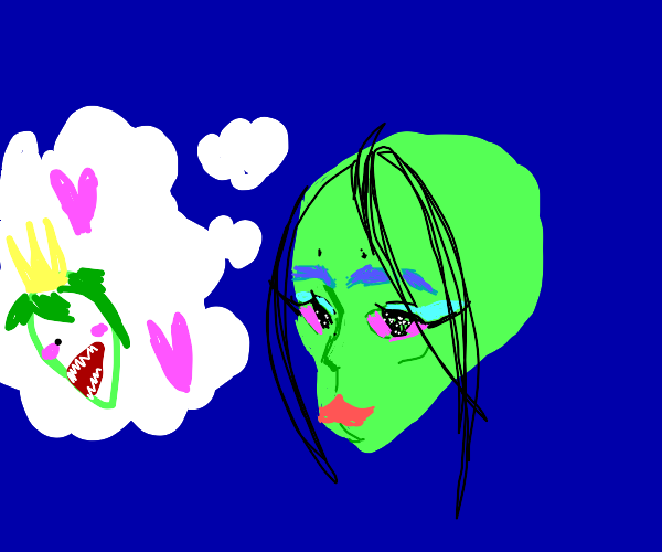 emo alien thinks about his crush,killer queen