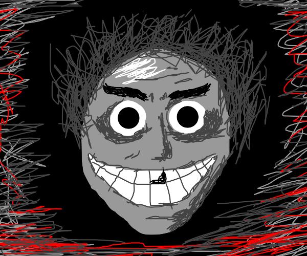 creepy man looks at you