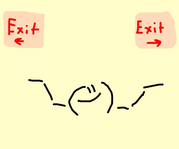 which way is da exit