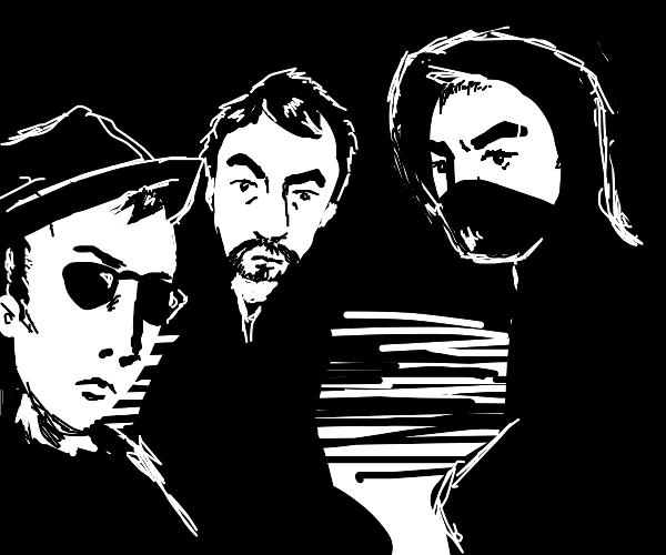 pov: you sit with 3 shady lookin guys