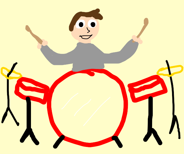 Guy playing drums