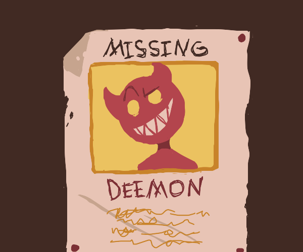 Missing 'deemon' poster.