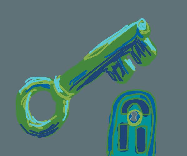 A key to a door