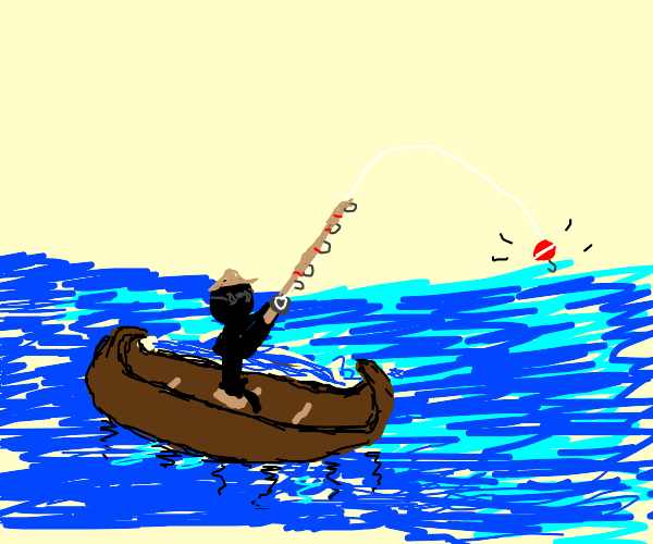 Stickman fishing and just kinda vibing