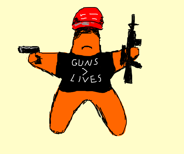 MAGA Starfish with pistol and assault rifle