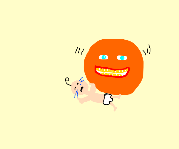 An orange is going to have a baby