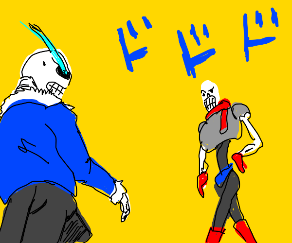 Sans and Papyrus but a jojo reference
