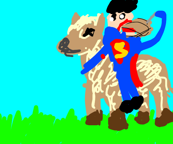 Superman Farts on a Llama While Eating Pie