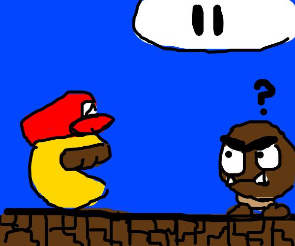 Mario Pac-Man the Plumber