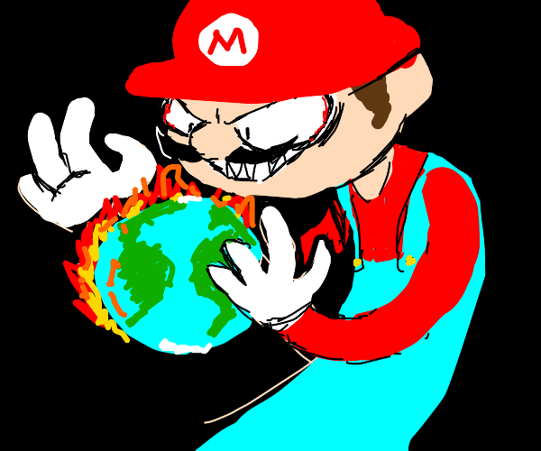 Mario sets the world on fire