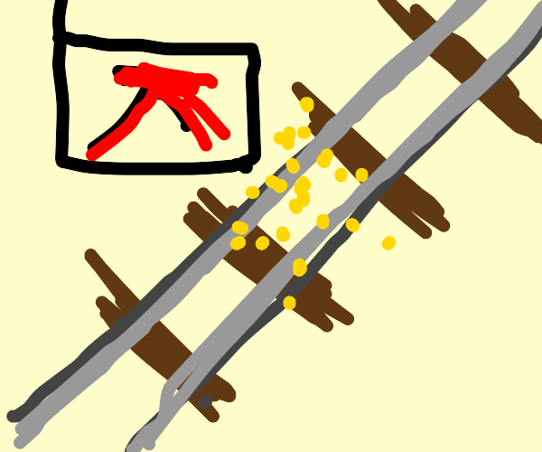cereal on train tracks