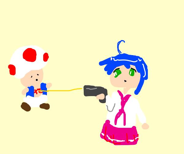 Konata Shoots Toad
