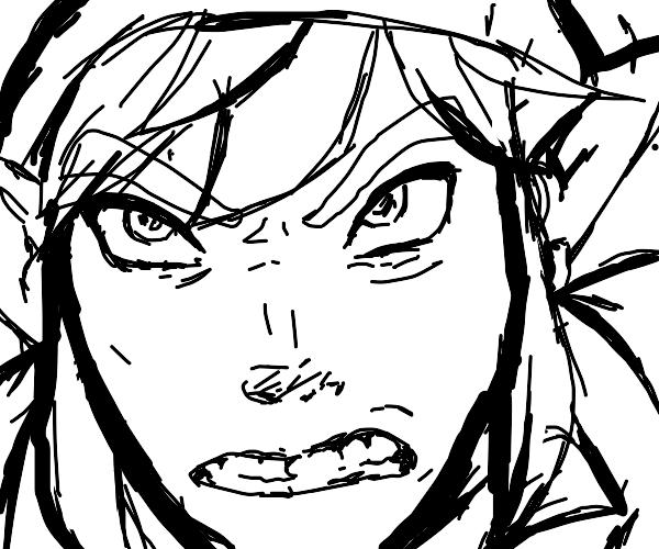 ANGRY LINK (legend of zelda)