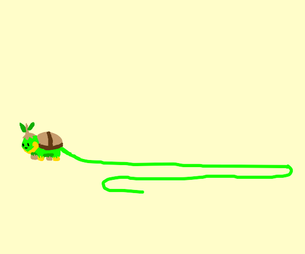 Turtwig with a tail 150 times the body length