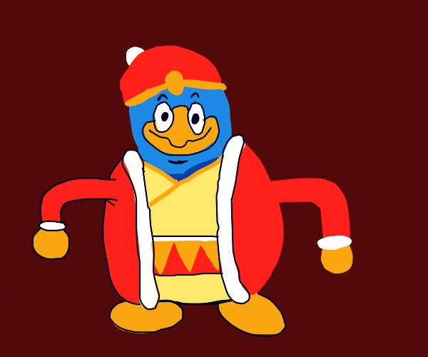 Penguin in a Santa suit