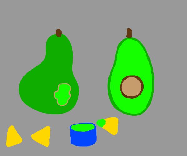 Yummy avocado pastie