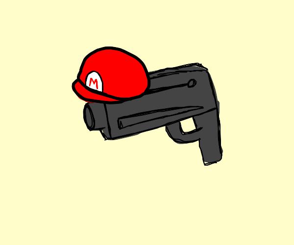 Mario hat gun
