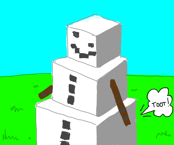 """rude"" snow golem"
