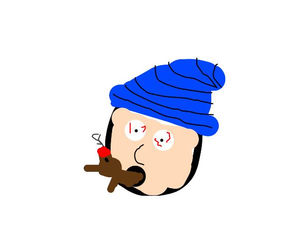 Hippy smoking dogs