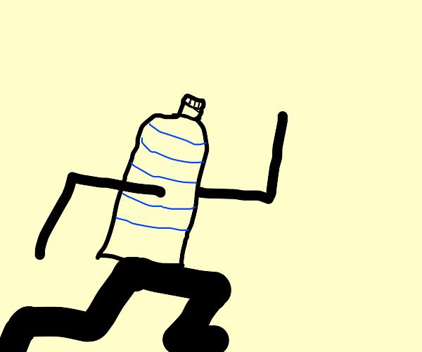 bottle boi running