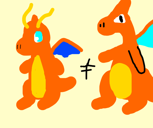 dragonite is not charizard.