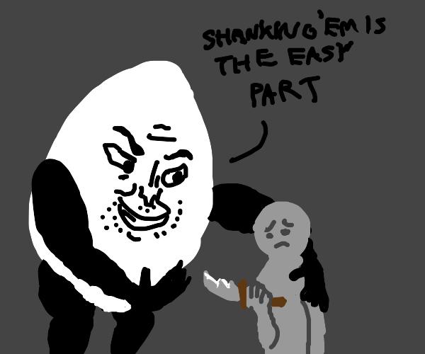 egg man wants kid to kill
