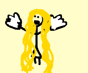 Repunzel With Gloves On
