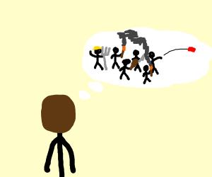 brown guy dreams of mob