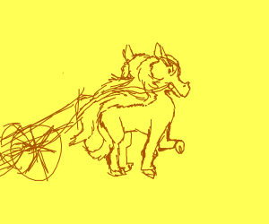 horse-drawn cannon