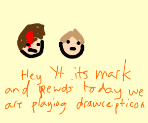 Pewdiepie and markpiler play drawception